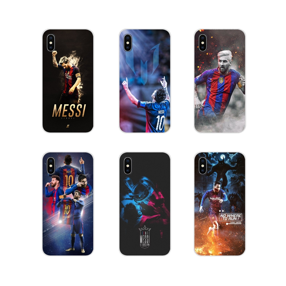 For Samsung Galaxy A5 A6S A7 A8 A9S Star J4 J6 J7 J8 Prime Plus 2018 Football player Messi Accessories Phone Shell Covers