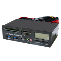 1 X Multifunction USB3 0 Card Readers 5 25 All In One Media Dashboard Front Panel