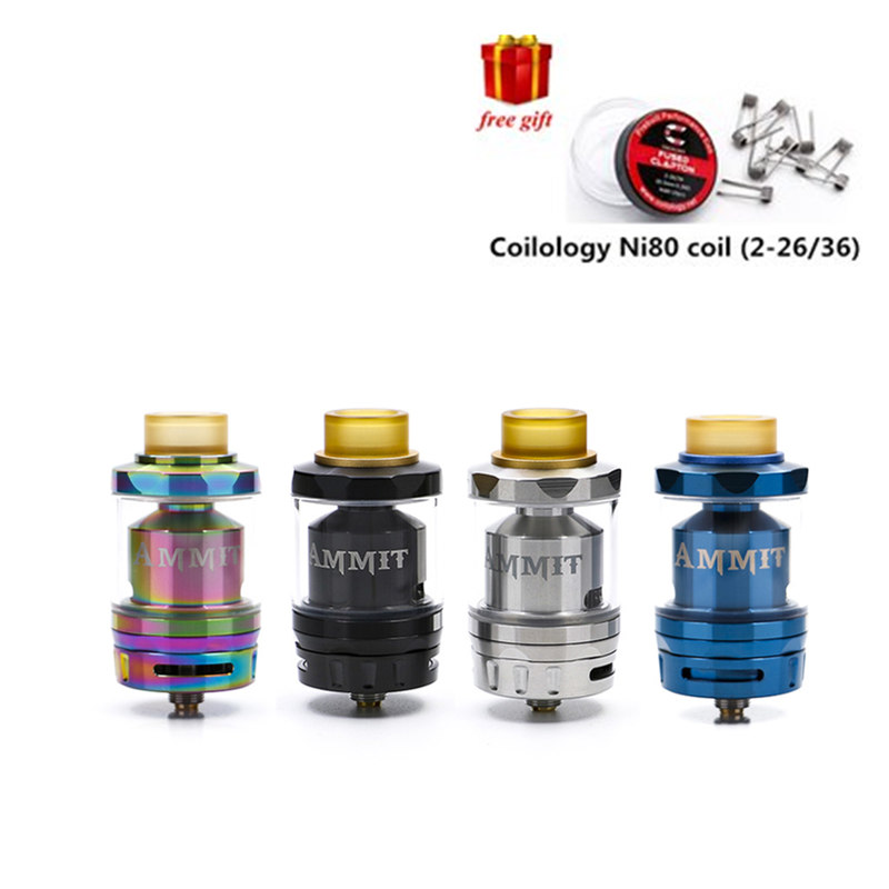 Free gift GeekVape Ammit Dual Coil RTA atomizer e-cigarette rebuildable RDTA top filling vape tank for ijoy captain pd270 mod original ijoy captain pd270 box mod e cigarette vape 234w ni ti ss tc vapor power by dual 20700 battery new colors