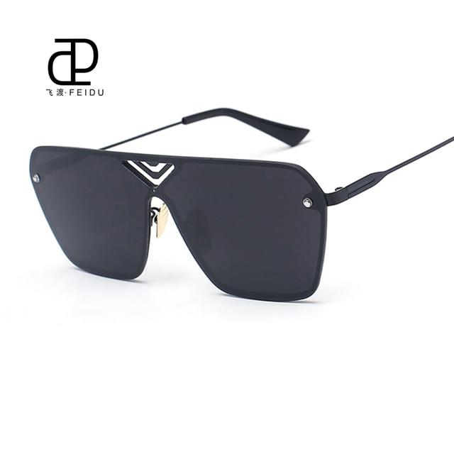 FEIDU Fashion Alloy Rimless Sunglasses Women Men Brand Designer Flat  Coating Mirror Sun Glasses Unisex Goggles Oculos De Sol 04be3026b0