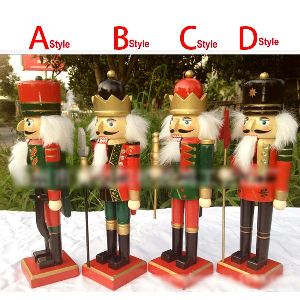 HT049 free shipping Action & Toy 25CM new painted nutcracker, walnuts person, walnut soldiers Crafts Christmas ornaments gift blugirl folies куртка
