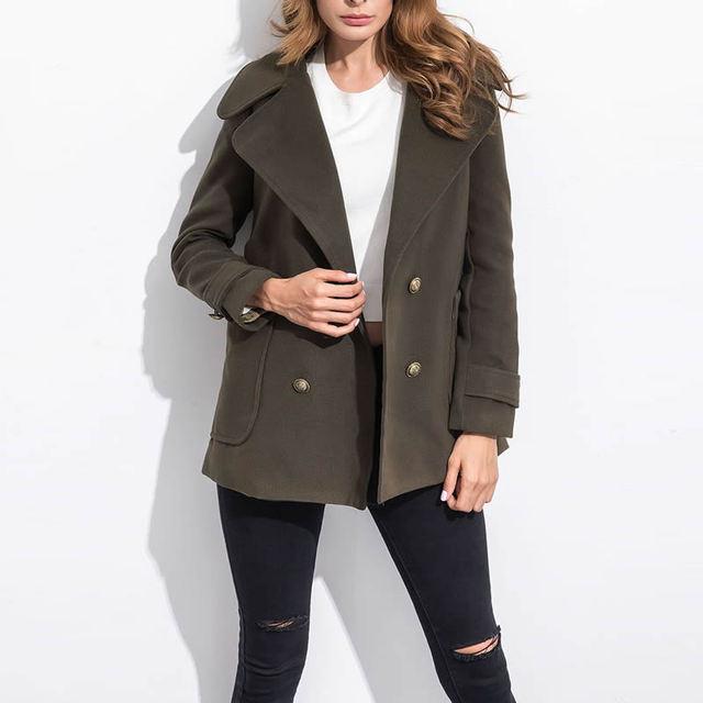 Mujeres gabardina abrigo negro verde del ejército mujer abrigo abrigos mujer abrigos sobretudo casaco doudoune femme hiver manteau femme