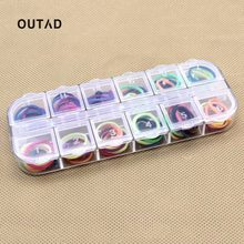 OUTAD Transparent 12 Cells Convenient Multi-Function Storage Case Box Organizer For Jewelry Pill Nail Art Drug Ring(China)