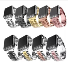 Series 5/4/3/2/1 watchband straps 38mm band metal stainless steel For Apple watch bands 42mm 40mm 44mm link bracelet luxury 316l watchband straps band metal 42mm link for apple watch stainless steel bracelet 38mm butterfly loop black gold silver