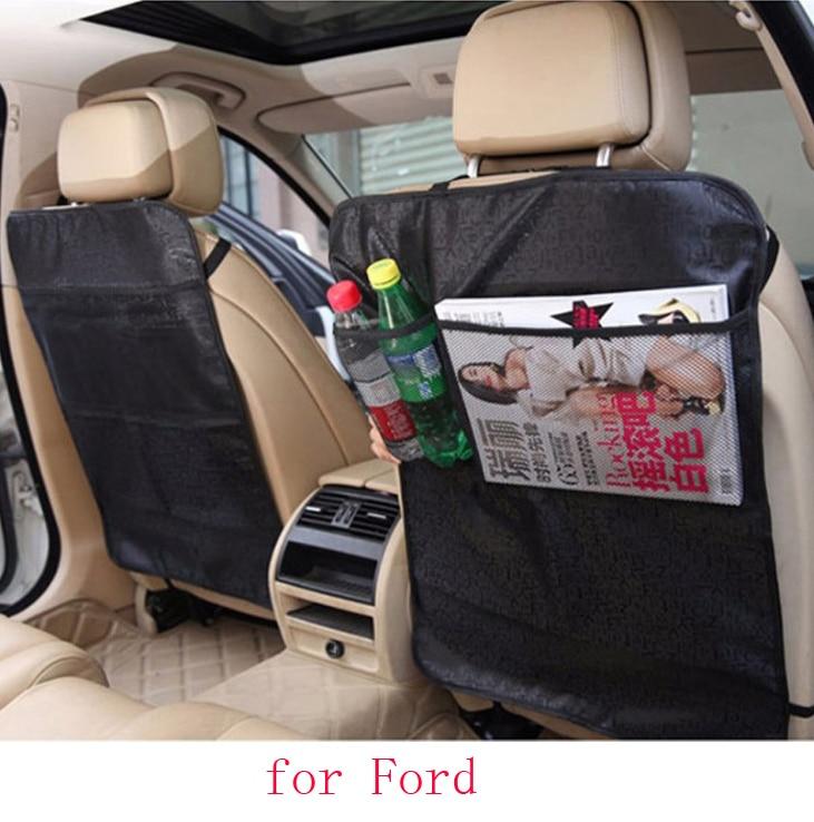 For Ford focus 2 3 mondeo kuga Fiesta car seat covers baby Kick protector mats black beige waterproof car accessories interior