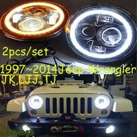 Wrangler Headlight 20 2014 JK LJ TJ Fit For LHD Free Ship Wrangler Fog Light 2ps
