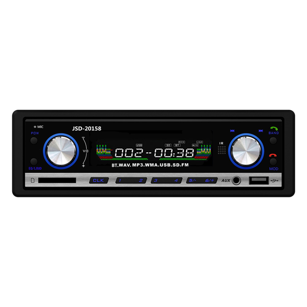 Cimiva Radio FM Estéreo Del Coche Reproductor de Audio MP3 Ayuda Del Teléfono Bl