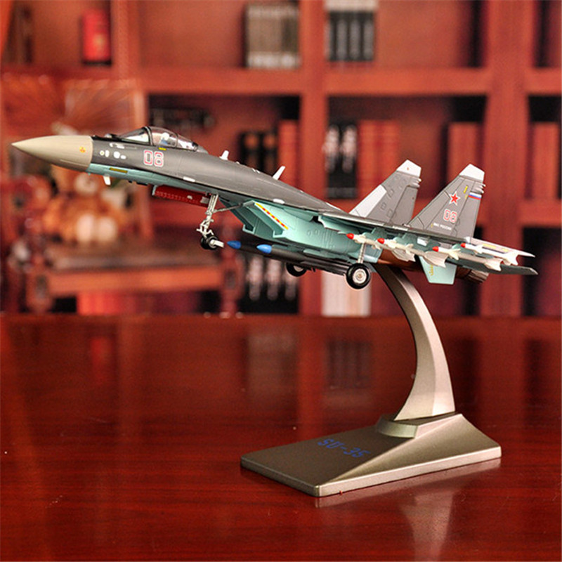 1:72 SU35 Aircraft Model Alloy Fighter Simulation Military Model Ornaments Precious Gifts Free Shiping батарейка алкалиновая gp batteries super alkaline тип крона 9v