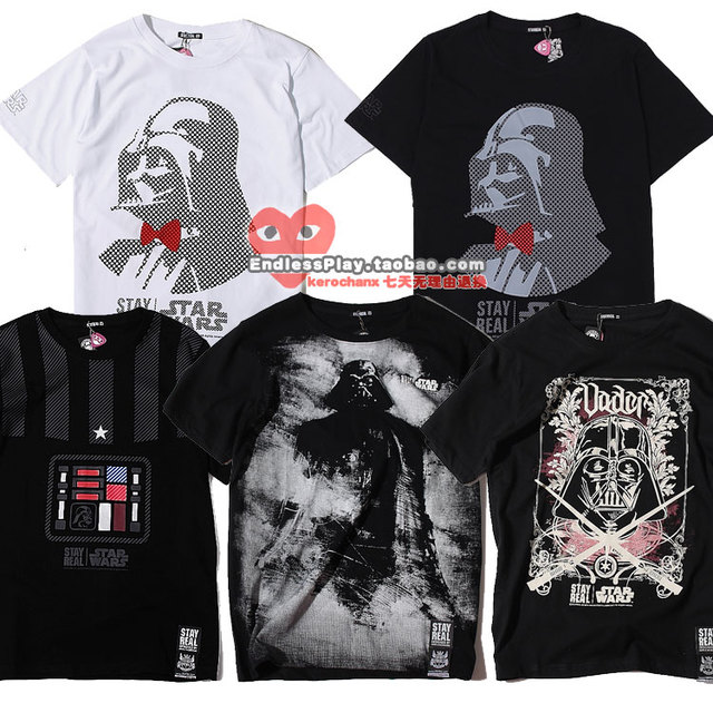 2013 spring and summer stayreal starwars sr lovers 100% cotton short-sleeve T-shirt