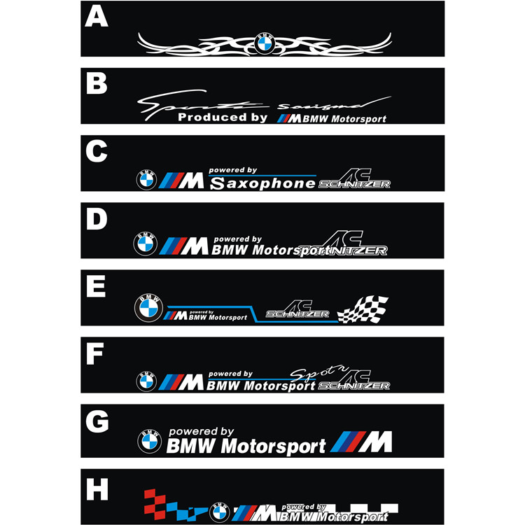 Free Shipping Automobile Label Car Racing Stickers For BMW Front - Front window stickers for car