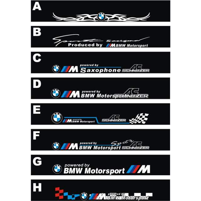 Free shipping automobile label car racing stickers for bmw front windshield stickers for front window