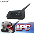 2016 nova! 1 PC R6 Helmet Intercom 6 Riders 1200 M Bluetooth Intercom moto Headset Walkie Talkie capacete BT interfone GPS / MP3