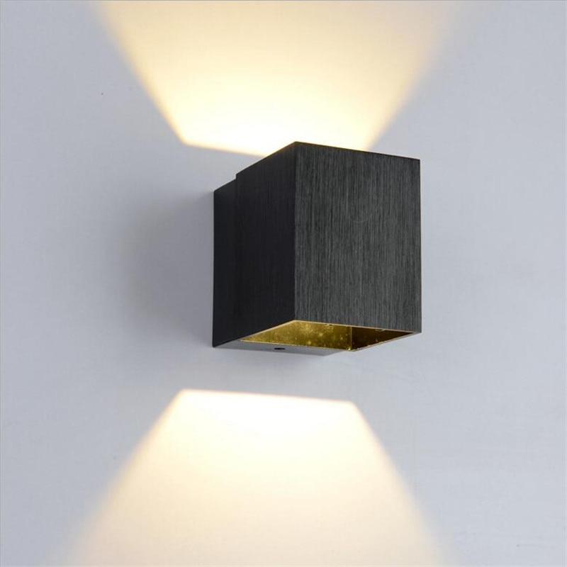 Für Hintergrund Watt Cube Metall moderne 3 Goldsilberschwarz Aluminium Led Wohnzimmer Kurze Schlafzimmer Us22 14 Wandleuchte 40Off Aisle BedCxorW
