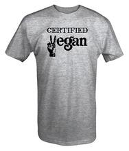 "Gray ""Certified Vegan"" men's t-shirt"