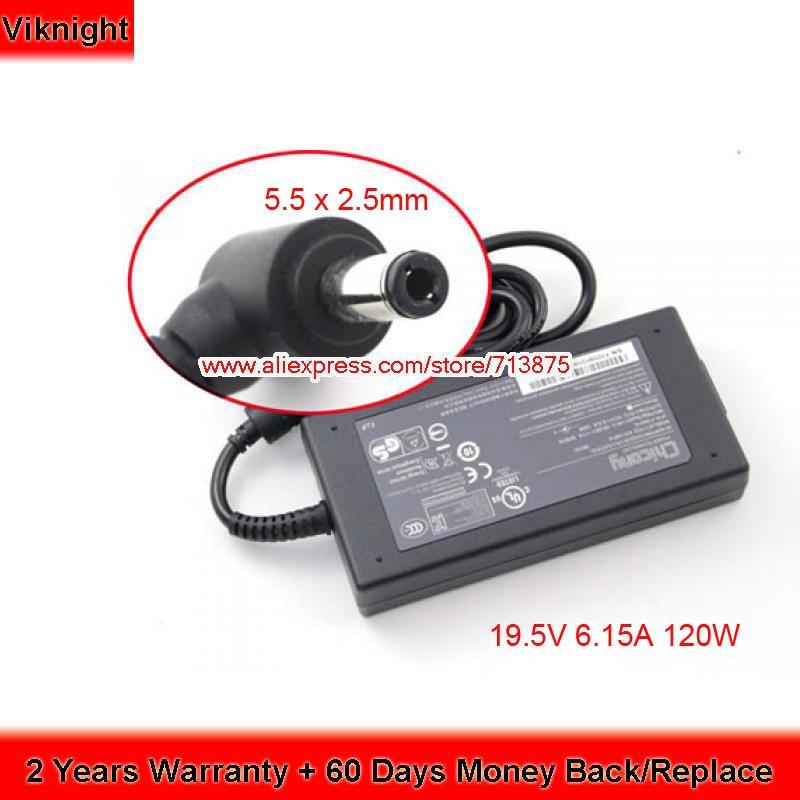 Chicony 19.5V 6.15A 120W A12-120P1A Ac Adapter for Clevo W650SJ W355ST W35 37ET MSI GP70 2PE L GE60 GE70