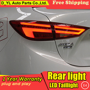 Car Styling case for Mazda3 Axela 2014-2017 taillights Mazda 3 M3 TAIL Lights LED Tail Light LED Rear Lamp Certa taillight