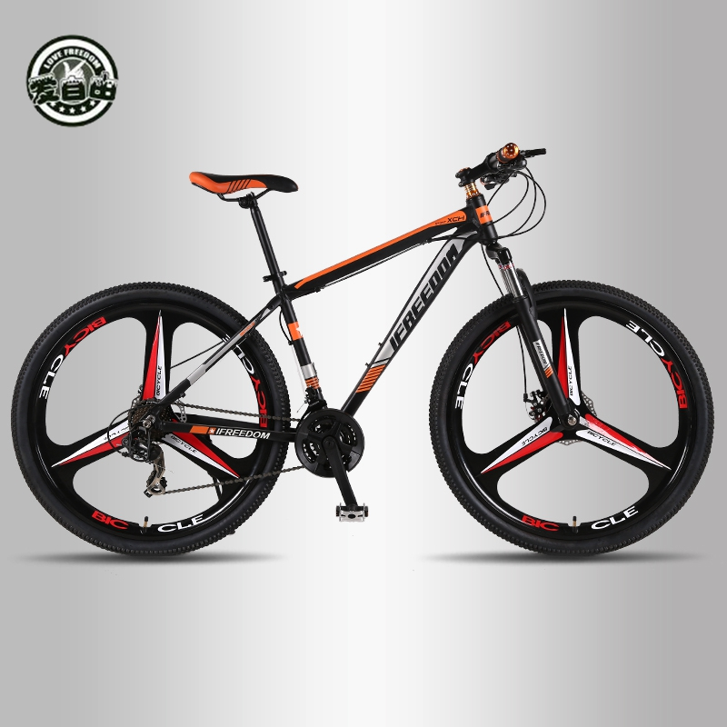 Love Freedom High Quality 29 Inch Mountain Bike 21/24 Speed Aluminum Frame Bicycle Front And Rear Mechanical Disc BrakeLove Freedom High Quality 29 Inch Mountain Bike 21/24 Speed Aluminum Frame Bicycle Front And Rear Mechanical Disc Brake