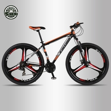 Amo la libertad de alta calidad 29 pulgadas bicicleta de montaña 21/24 velocidad de marco de aluminio bicicleta delantera y trasera de freno disco mecánico