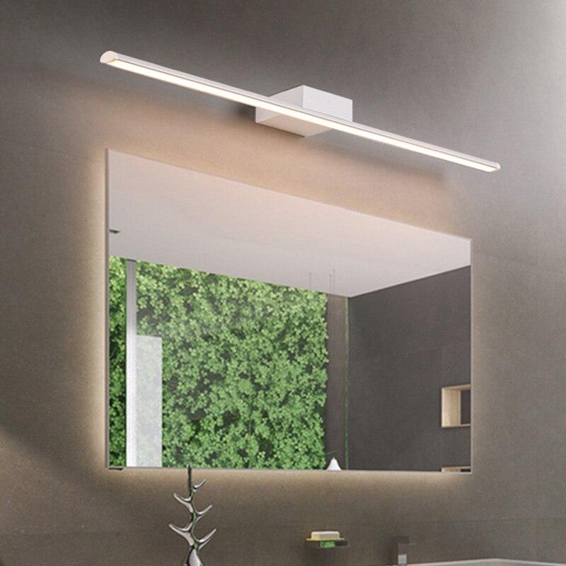 Современная светодио дный светодиодная зеркальная лампа металлическая железная водостойкая и противотуманная подсветка/макияж лампа ван