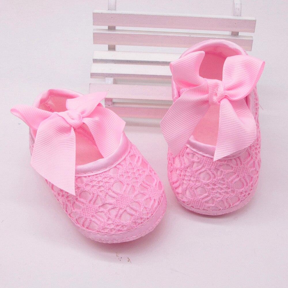 Newborn Baby Girls Soft Shoes Soft Soled Non-slip Bowknot Footwear Crib Shoes Kız Bebek Ayakkabı
