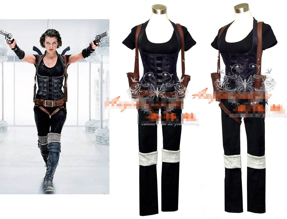 Resident Evil 4 Alice Cosplay costume Full set Customize ...