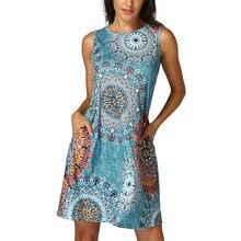 Womens Sleeveless Vintage Boho font b Maxi b font Evening Party Beach Floral font b Dress