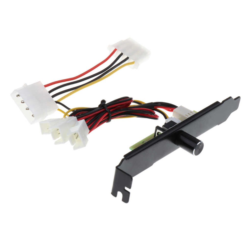 Canais 3 3pin Refrigerador PC Cooling Fan Speed Controller PCI Bracket 12 V