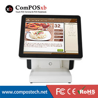 ComPOSxb 15 & 12 Dual Screen POS system all in one pc touch Screen Supermarket POS terminal/Epos System/Cash register