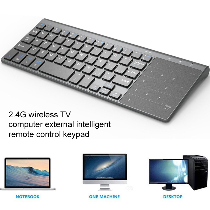 US $15 44 12% OFF|2 4G Computer TV Keyboard Tablet Wireless Windows Ultra  Thin Universal USB Keyboard Wireless Keyboard Laptop With Touch Keypad-in