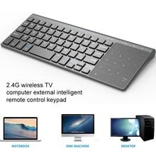 2.4G Computer TV Keyboard Tablet Wireless Windows Ultra Thin Universal USB Keyboard Wireless Keyboard Laptop With Touch Keypad