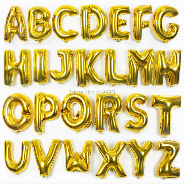 16 inch golden balloonsadvertising balloonsfoil letter balloons wedding christmas birthday party decoration