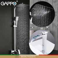 GAPPO смеситель для раковины s латунный душевой набор с раковиной Кран хромированный смеситель для ванны смесители для ванной Душевой системы