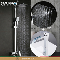 GAPPO Basin Faucets brass bathroom shower set shower set with basin faucet chrome bath faucet mixers bath shower system
