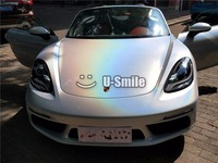 Various Color Premium Rainbow Effect White Gloss Prisma Psychedelic Vinyl Wrap Film Air Bubble Free For Car Sticker