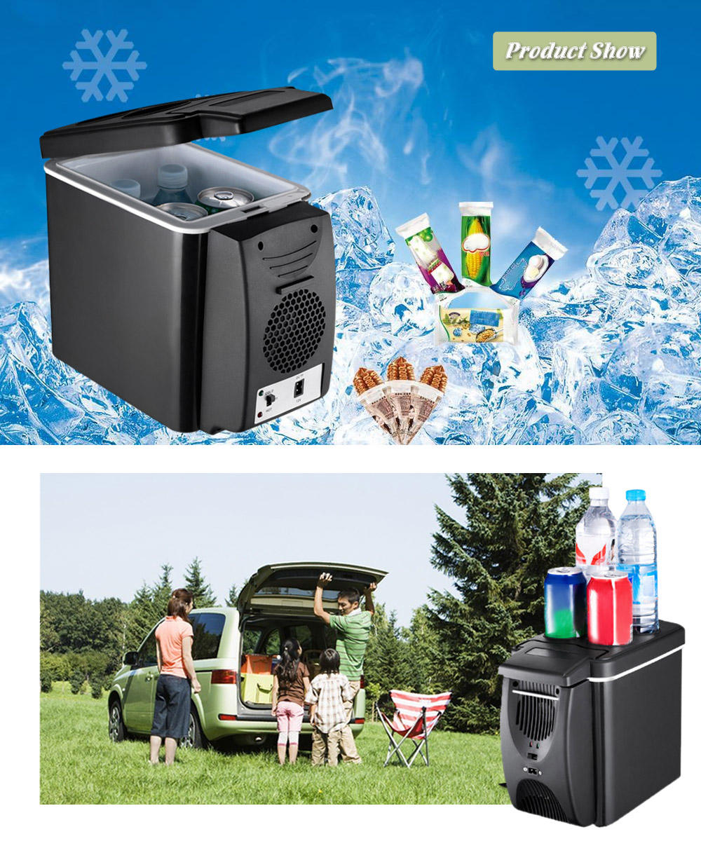 DC 12V 42W 6L Car Refrigerator Mini Freezer Heater For Automobile Travel(China)