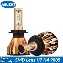 ASLENT H4 LED H7 Car Headlight Bulbs H11 H8 H9 9005 9006 9007 H13 SMD Chips Lens Lamp Auto Headlamp Fog Light 80W 10000LM 6500K цена 2017