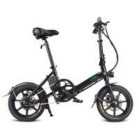 Складной электровелосипед черный FIIDO D3, 14 дюймовые шины, 25 км/ч 7.8AH батарея, открытый езда складной взрослый Электрический мотоцикл
