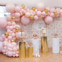 wedding favors display table cylinder Pillar stand gold metal tall cake stand silver cake tray flower dessert crafts metal rack
