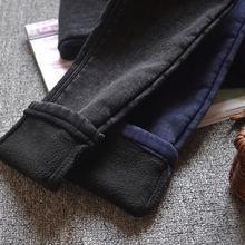 Женские джинсы бойфренды с высокой талией зимние Бархатные брюки
