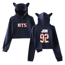 Bangtan7 Short Hoodie With Ears (35 Models)