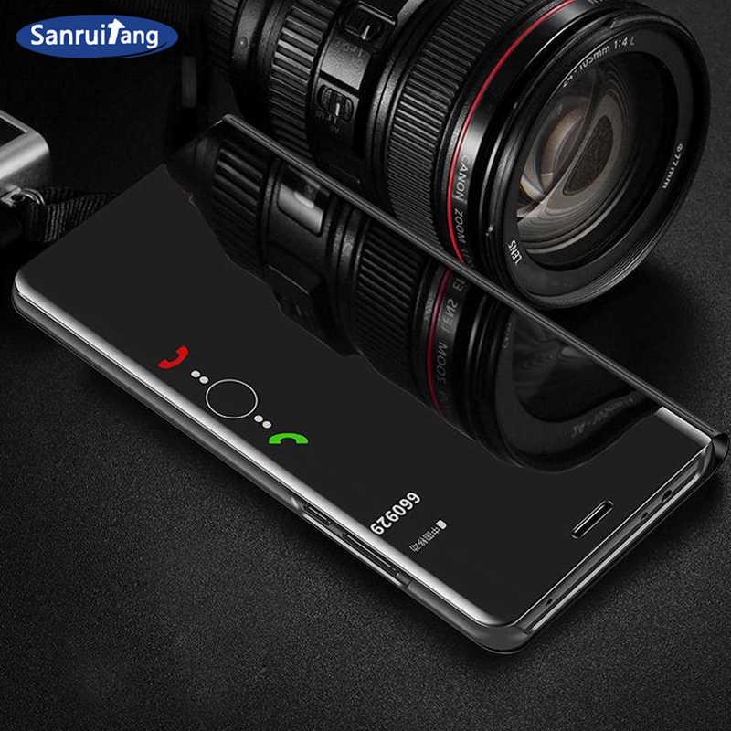 Пленка для экрана с четким изображением чехол для телефона для samsung a50 a70 Galaxy S9 S8 S10 плюс A8 A7 2018 Note 9 8 зеркальный Чехол С Откидывающейся Крышкой для samsung a40 30 20