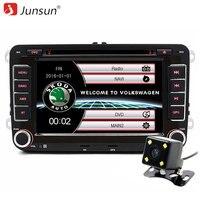 Junsun 7 polegada 2 din Car DVD player GPS de Navegação Para Skoda/Fabia/Praktic/Roomster/Octavia/Yeti/VW/Seat Bluetooth FM rádio do carro