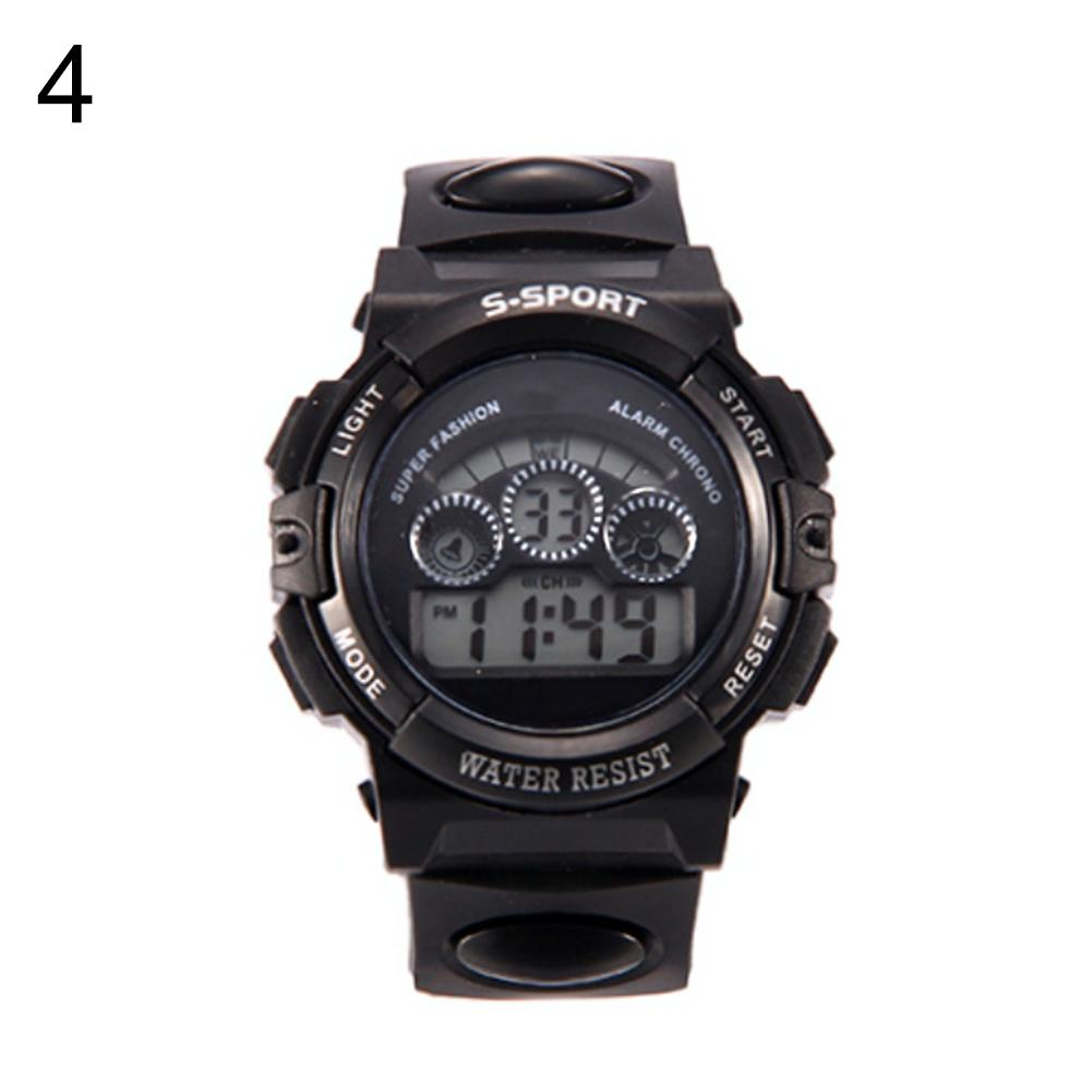 Waterproof Children LED Digital Display Alarm Date Luminous Sports Wrist Watch Sports Trend Children's Electronic Watch Watch