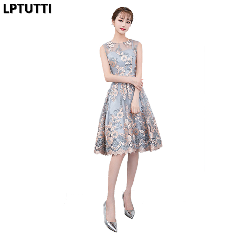 LPTUTTI Embroidery  New Sexy Woman Plus Size Social Festive Elegant Formal Prom Party Gowns Fancy Short Luxury Cocktail Dresses