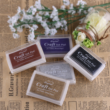 Fashion Colorful Oil Based Craft Ink Pad Rubber Stamps For Fabric Wood Paper Wedding DIY