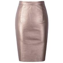Neophil 2017 Sexy Faux Fur Leather Pu High Waist Midi Women Pencil Skirts Pink Office Wrap Bodycon Short Girls Tutu Saia S08019