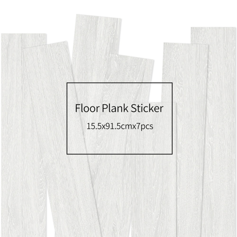 HXM 7pcs Floor stickers DIY Self adhesive Wall Tile Stickers Wood Grain Frosted Film Wallpaper Kitchen Living Room Decor #4