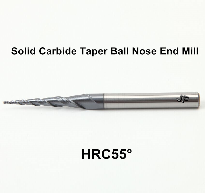 Metric 45 HRC TiAlN 30° Solid Carbide End Mill 2 Flutes