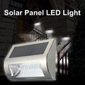 Impermeable 3528 SMD 5 LED Monte luz Solar LED de Pared de Luz Al Aire Libre Patio Paisaje Blanco de La Lámpara de Acero Inoxidable