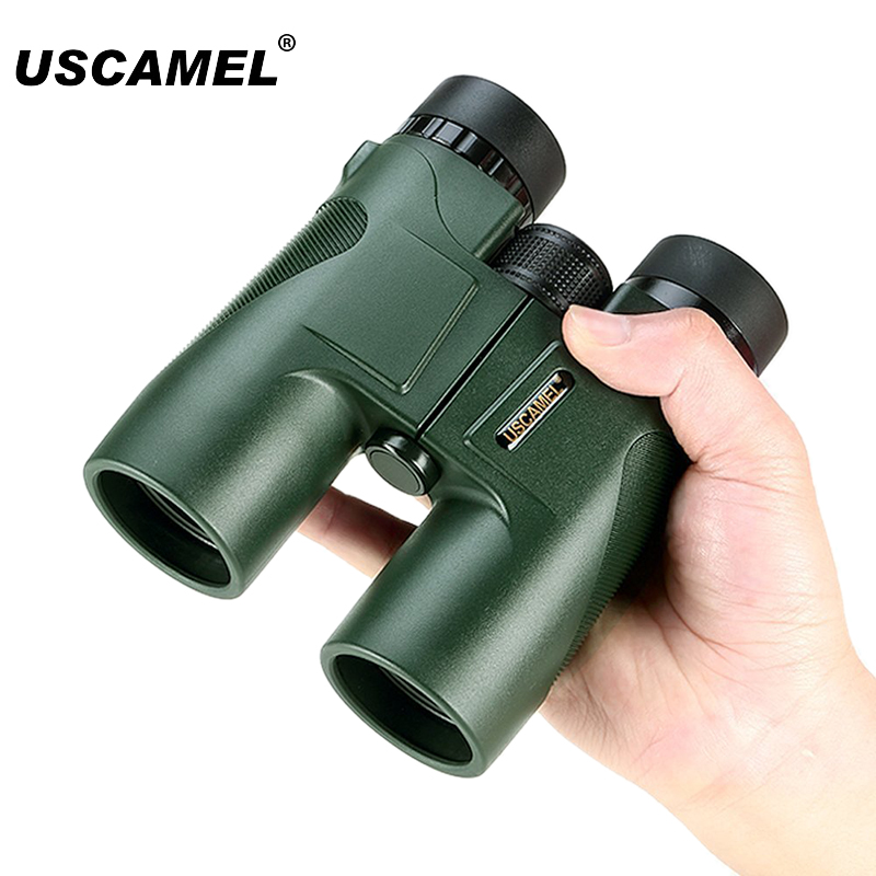 USCAMEL Military HD 10x42 Binoculars Professional Hunting Telescope Zoom High Quality Vision No Infrared Eyepiece Army Green цена